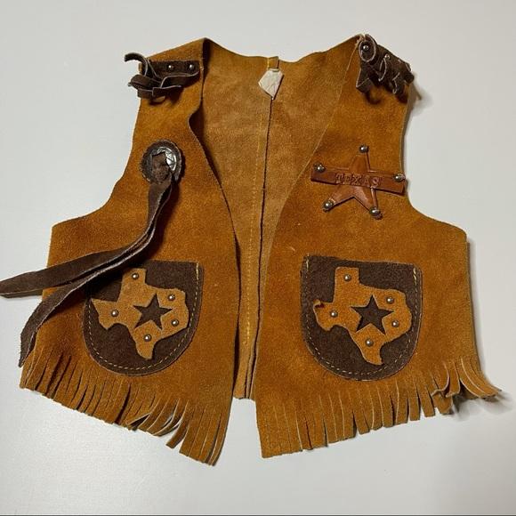 Vintage Suede Cowboy Western Vest - Texas